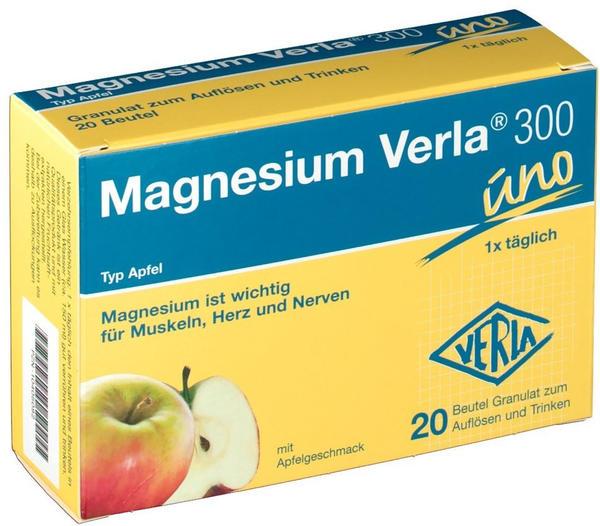 Verla-Pharm Magnesium Verla 300 uno Apfel Granulat (20 Stk.)