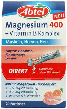 Abtei Magnesium 400 + Vitamin B Komplex Granulat 20 St.