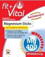 Fit + Vital Magnesium Sticks mit Cranberry Geschmack