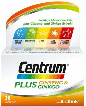 Centrum Plus Ginseng & Ginkgo Tabletten 30 St