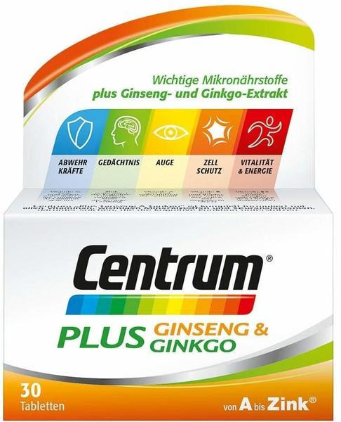 Centrum Plus Ginseng & Ginkgo Tabletten