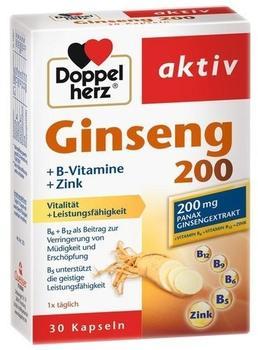 Doppelherz Aktiv Ginseng 200 + B-Vitamine + Zink Kapseln 30 St