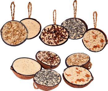 Dobar Zehn Gefüllte Kokosnüsse in Vogelfutter-Sorten 10 St