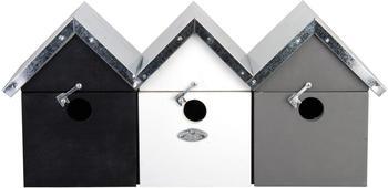 Esschert Spatzenvilla schwarz weiß grau (NK41)