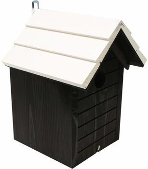 GD-World Nistkasten 19x25cm schwarz mit weißem Dach