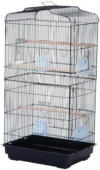 Pawhut Vogelvoliere für Papagei, Wellensittich 47,5 x 36 x 91 cm