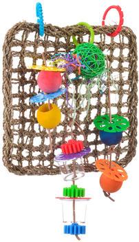 HappyBird Papageienspielzeug in Kletterwand de Luxe
