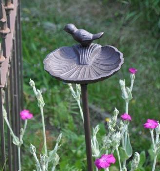 Kuheiga Vogeltränke Blatt auf Stab rund