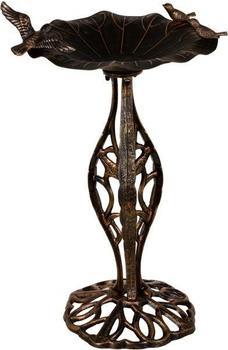 Maxstore Nostalgische Vogeltränke gusseisern bronze (30050004)