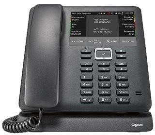 Gigaset PRO Maxwell 4 Systemtelefon Voice-Over-IP VoIP Telefon, schnurgebunden, schwarz