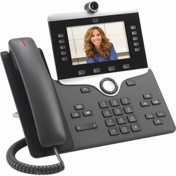 Cisco IP Phone 8865 IP-Telefon Holzkohle Kabelgebundenes Mobilteil 5 Zeilen WLAN