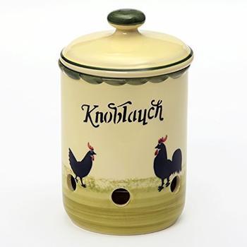 Zeller Keramik Knoblauchtopf Hahn und Henne