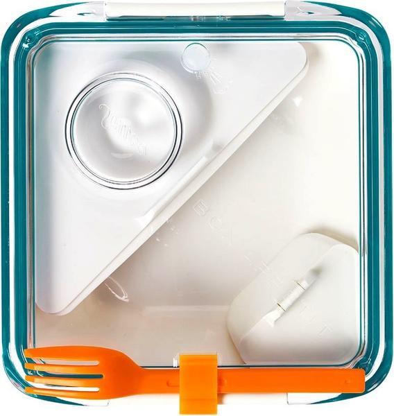 Black+Blum Lunch BOX APPETIT eckig weiß/ozean