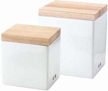 Continenta Vorratsdosen mit Holzdeckel 2er Set