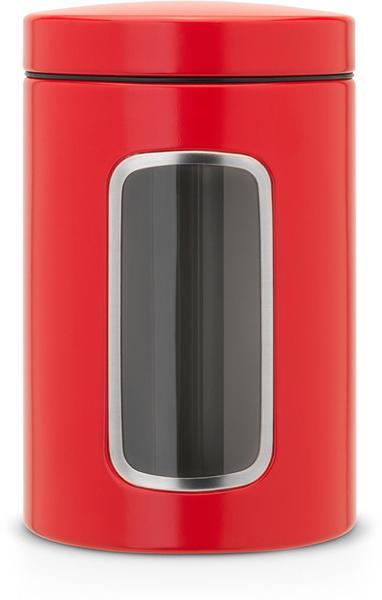 Brabantia Vorratsdose mit Fenster (1,4 l) rot