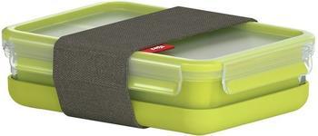Emsa Clip & Go Lunchbox mit 3 Einsätze 1,2 Liter grün