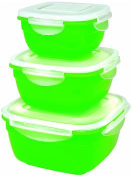 Lock&Lock Frischhaltedosen Set quadratisch 3 tlg. grün