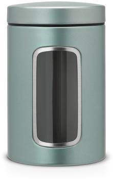 Brabantia Vorratsdose mit Fenster (1,4 l) Metallic Mint