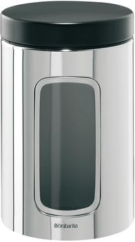 Brabantia Vorratsdose mit Fenster (1,4 l) Brillant Steel