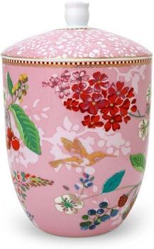 PiP Studio Vorratsdose Floral Hummingbirds pink 1,5 l