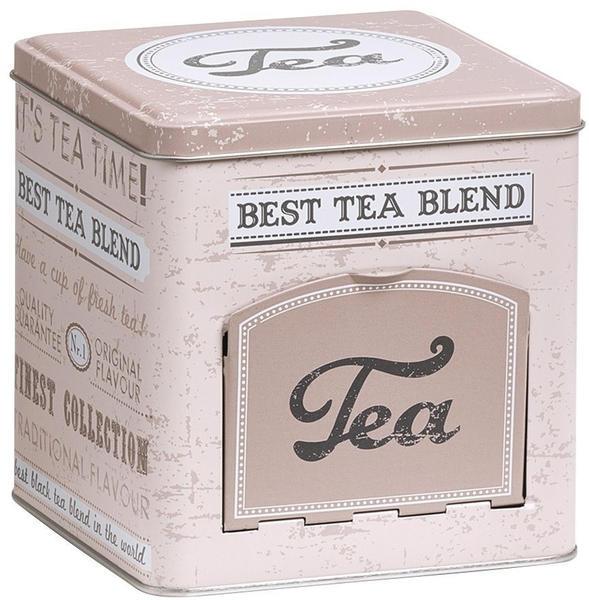 Zeller Vorratsdose Tea mit Klappe eckig beige