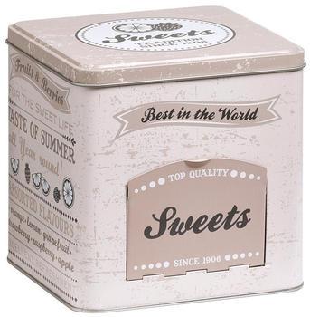 Zeller Vorratsdose Sweets mit Klappe eckig beige