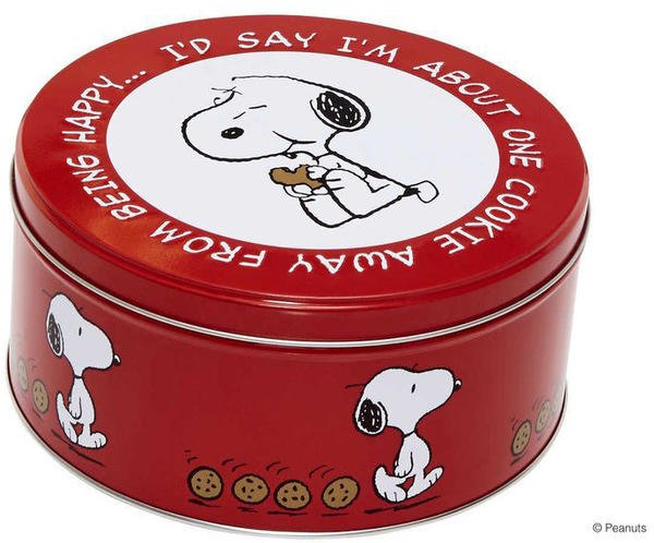 Butlers PEANUTS Dose Snoopy/Keks rund rot