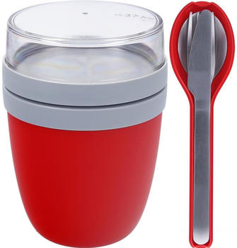 Rosti Mepal Lunch Pot Ellipse & Besteck Nordic Red