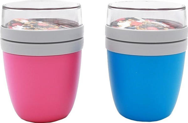 Rosti Mepal Lunch Pot Ellipse 2-teilig aqua/pink