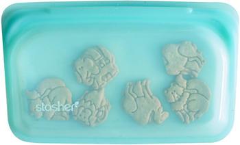 Stasher Silicone Reusable Food Storage Bag (9.9 floz) Aqua Blue
