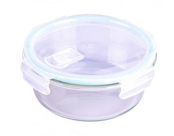 Steuber Cloc Frischhaltedose aus Glas rund 950 ml