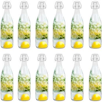 vidaXL Glasflasche mit Bügelverschluss 1 l (12 Stk.)