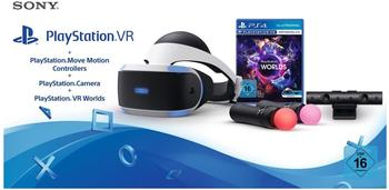 Sony PlayStation VR + PlayStation Kamera + Move Motion Controllers + PlayStation VR Worlds