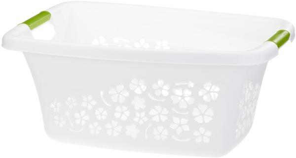 Rotho Wäschekorb Flowers 25L weiß