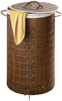 Wenko Bamboo Wäschekorb (17771100) dunkelbraun