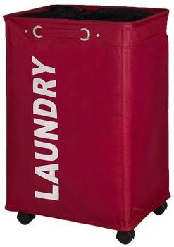 Wenko Quadro Wäschesammler rot