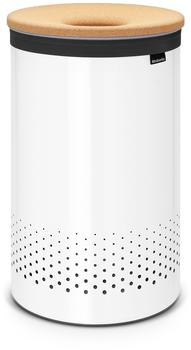 Brabantia Wäschebox 60L Korkdeckel White Cork brown (104404)