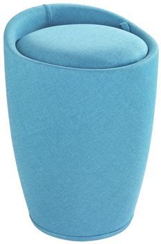 Wenko Hocker Candy Turquoise Leinenoptik (22840100)