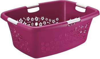 rotho-waeschekorb-flowers-50l-pink