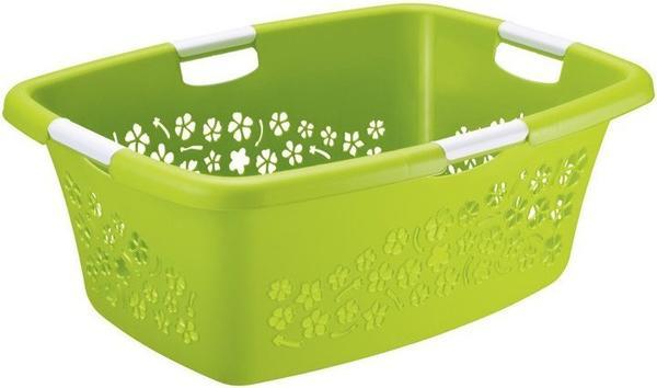 Rotho Wäschekorb Flowers mit 2 Griffen 50L grün