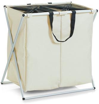 Zeller Wäschesammler Polyester 2-fach beige (13225)