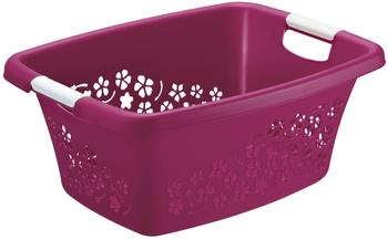 Rotho Wäschekorb Flowers 25L pink