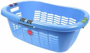 Lockweiler Ergo-Wäschekorb Softgriff 65cm blau