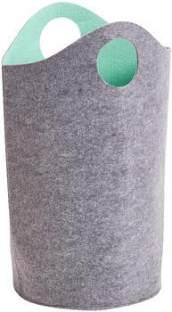 zeller-two-tone-filz-grau-aqua-14384