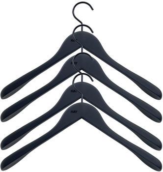HAY Soft Coat Kleiderbügel schwarz (4er-Set)