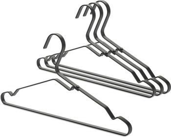 Brabantia Kleiderbügel Aluminium 4er Set Schwarz