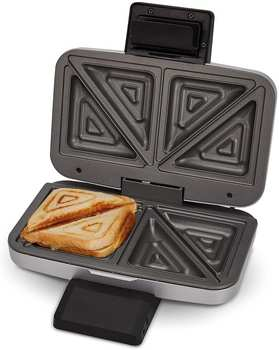 Cloer 6259 XXL 2ER Sandwichmaker Silber