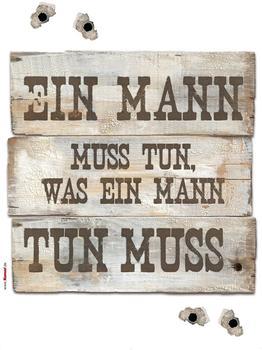 Komar Wandbild Ein Mann muss.. (17800)