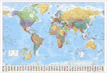 GB Eye World Map Maxi Poster