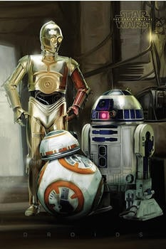 Empire Poster Poster Star Wars EP7 Droids (61x91,5cm)